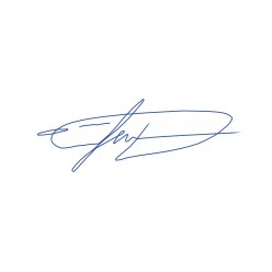 Штамп-подпись (факсимиле) размер 58х22 мм