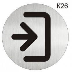 """Інформаційна табличка - піктограма """"Вхід"""" d 100 мм"""