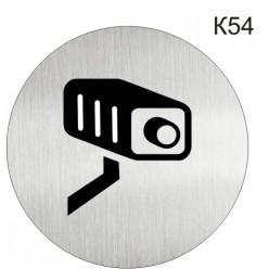 """Інформаційна табличка - піктограма """"Ведеться відеоспостереження"""" d 100 мм"""
