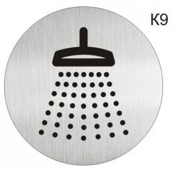 "Інформаційна табличка - піктограма ""Душева кабіна, ванна кімната"" d 100 мм"